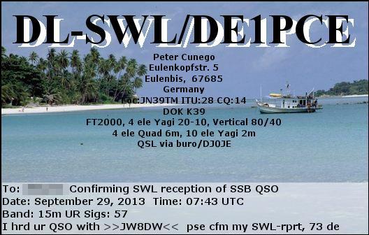 1st SWL Report eQSL